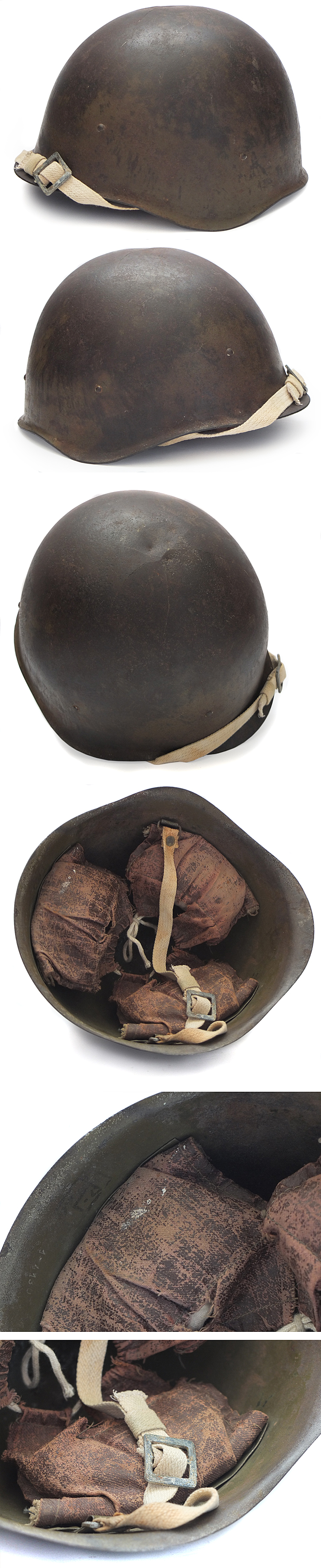 soviet ssh40 helmet for sale 1944 battle damaged